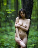 Lara Masier Bare in the Russian Woods